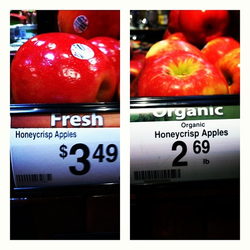 Read the labels people. Organic is NOT always more expensive.