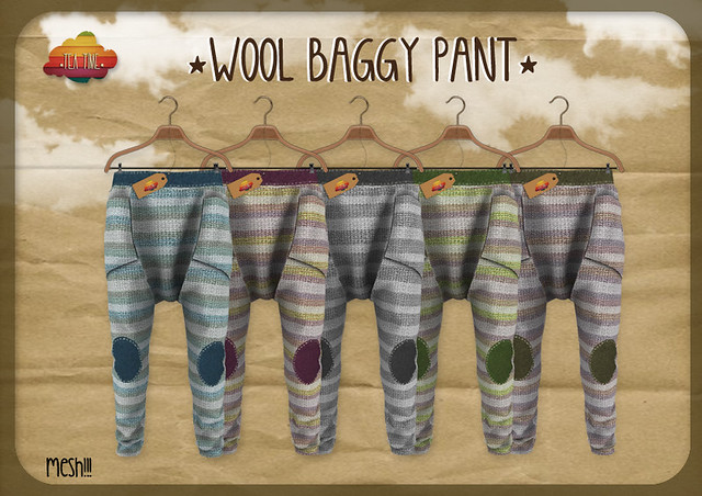 WOOL BAGGY PANT *Tea Time* NEW!!!