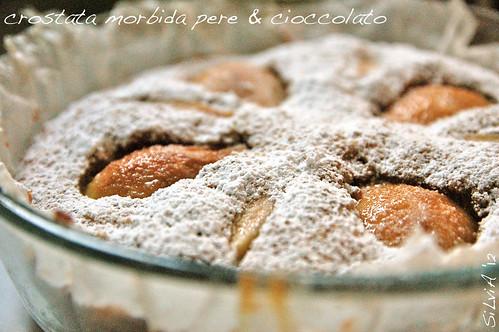 crostata morbida pere & cioccolato