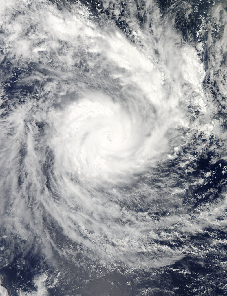 Cyclone Evan over the Fiji Islands, December 2012