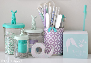 Pretty guest room stationery