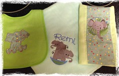 Bib, Blanket, and Burp Cloth
