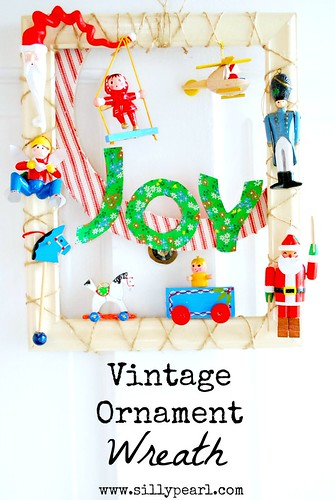 Vintage Ornament Wreath by The Silly Pearl