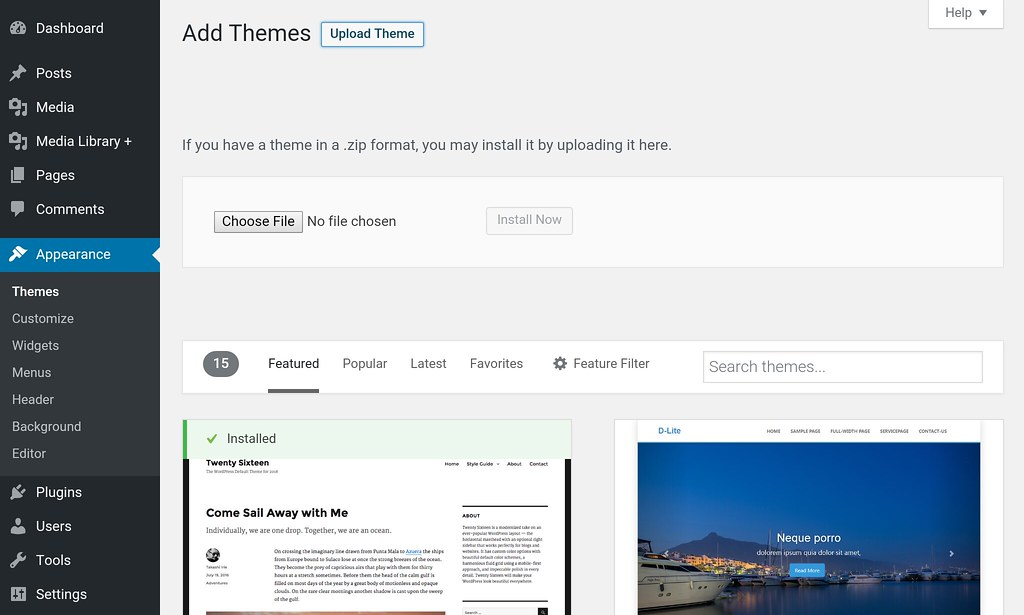 WP Add theme
