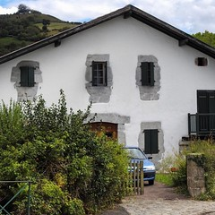 In the Pyrenees where the #Espadrille comes from - #Ainhoa  #aroundtheworld #aquitaine #slowtravel #basque #pyrenees #beautifulhouses