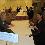 Student interviewing with a recruiter from O'Malley & Kwit,LLC --