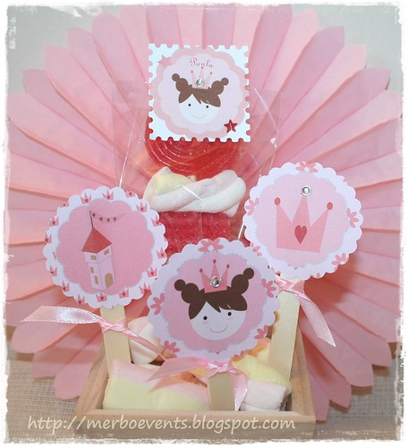 Toppers Kit imprimible Princesas Merbo Events