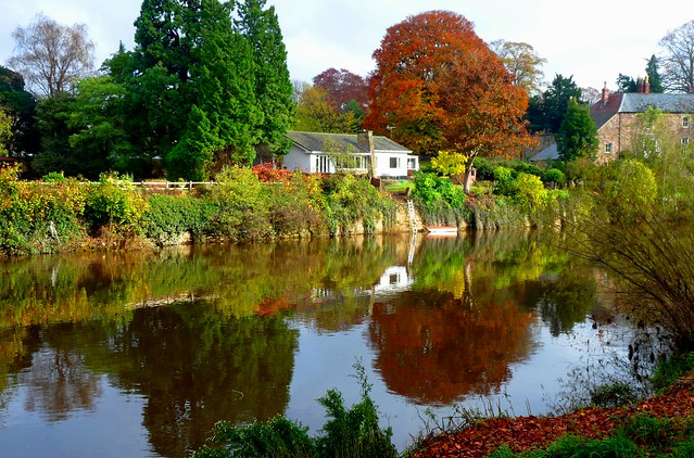 Autumn River Wye Reflections #Hereford #dailyshoot