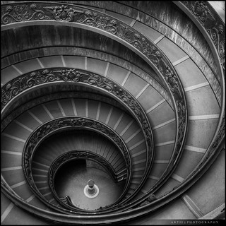 The Spiral Stairs of Vatican, Rome, Italy (II) :: HDR