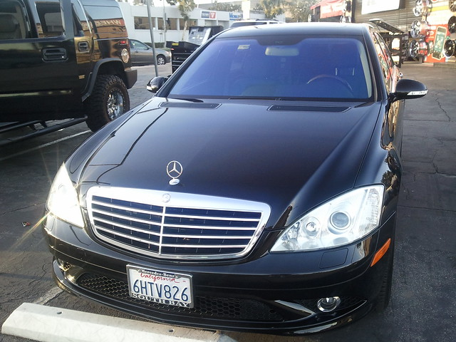 Complete window tint crystalline professionally installed for Mercedes benz window tint