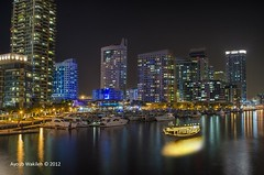 Dubai Marina From over a Bridge
