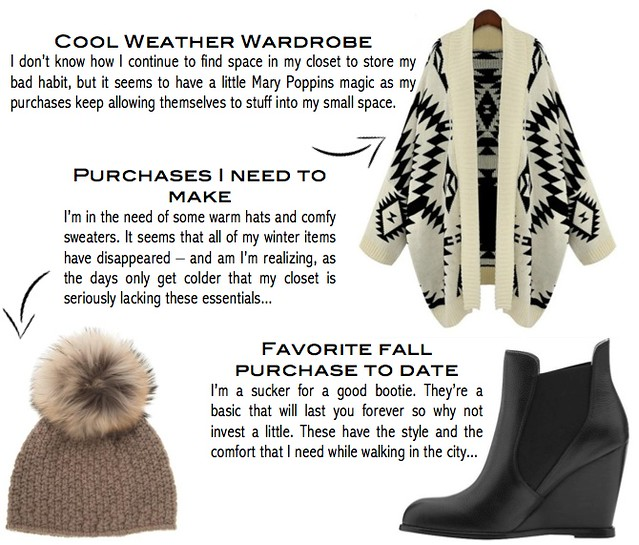 cool weather wardrobe