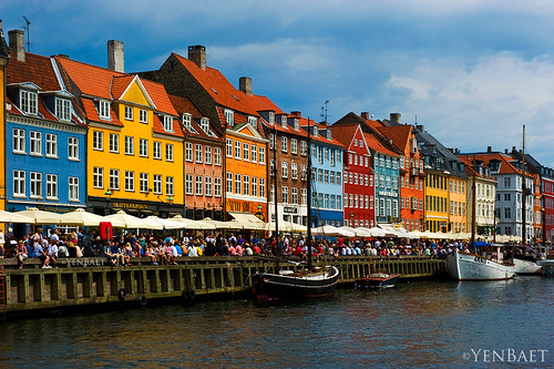 Copenhagen - Crowded Afternoon at Nyhavn Harbour