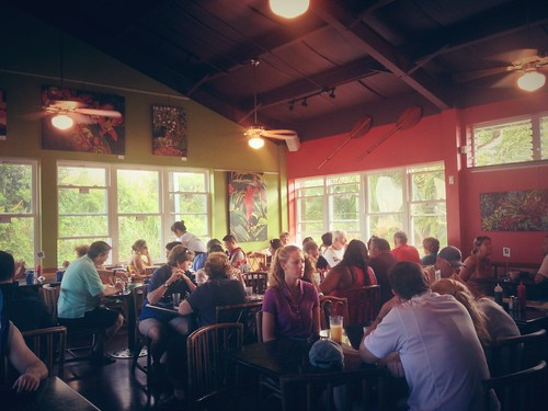 Busy breakfast place at Kalaheo Café & Coffee Co. – View on Path.