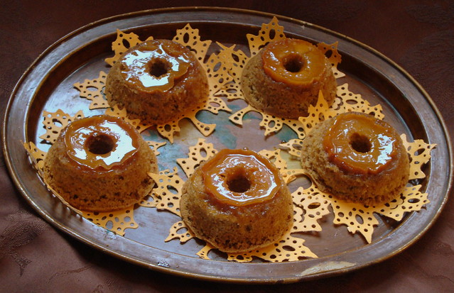 persimmon upside-down fresh ginger cakes | Flickr - Photo Sharing!
