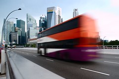 SBS Transit bus on Esplanade Bridge
