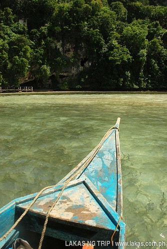 Our boat leaving the Tabon Caves Complex