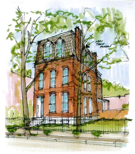 exterior hand drawing
