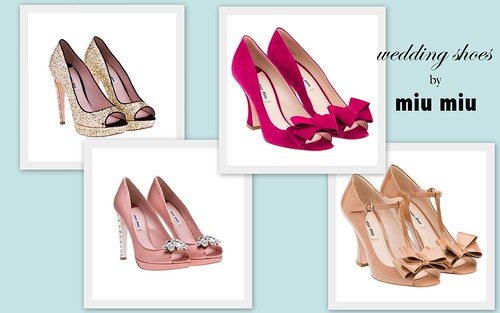 {Beautiful Wedding Shoes} by Miu Miu by Nina Renee Designs