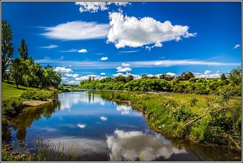 sky color water clouds canon river landscape australian australia tasmania tasmanian canonefs1022mm southesk polariserfilter southeskriver canon60d lightroom4