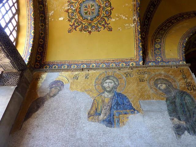 P1390055  Interior Aya sofia, Istanbul