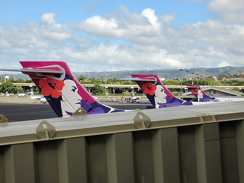 Hawaiian Airlines tails