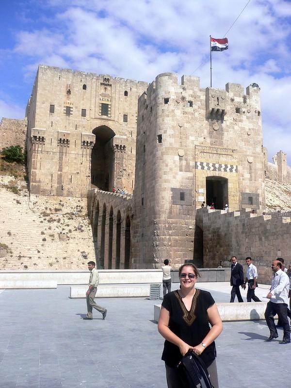 The Citadel in Aleppo, Syria