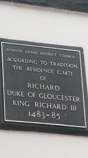 Photo of Richard III blue plaque