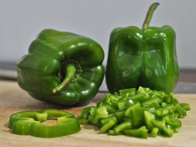 diced green pepper -#main
