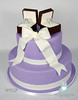 W9128 purple 2 tier engagement cake toronto