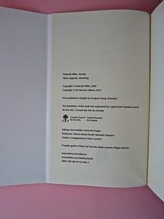 Deborah Willis, Svanire. Del Vecchio editore 2012. Grafica e impaginazione Dario Lucarini. Verso del risvolto di copertina, colophon (part.), 1