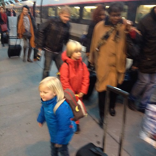 Big kid travelers arrived in Paris.