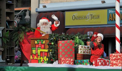 Santa arrives by Bruce Shapka