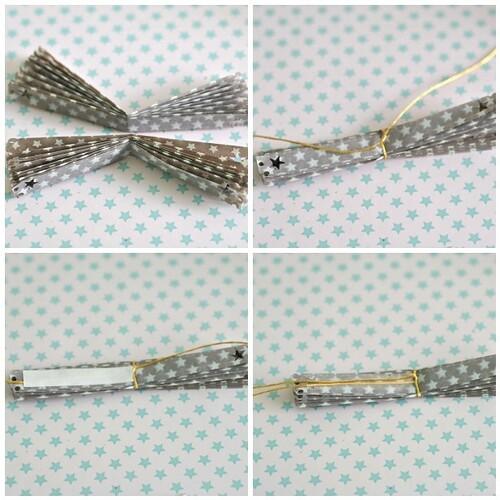 Paper rosettes steps 5-8