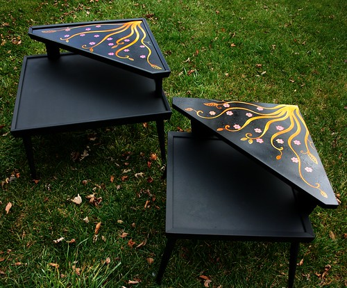 Retro Tables Makeover by Rick Cheadle Art and Designs