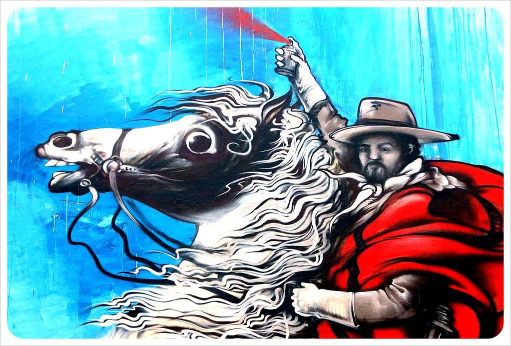 buenos aires street art horse rider
