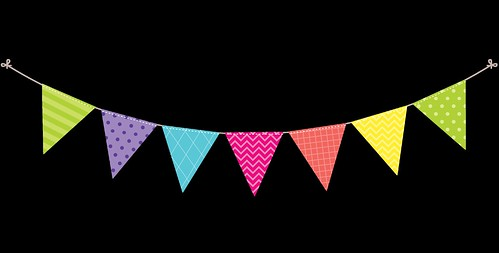 Bunting - Dots and Stripes - Rainbow - 1