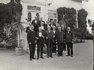 Selskapelig sjøfartssamling ved Villa Hasselbakken (1930)