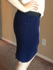 Navy Vest to Skirt - After