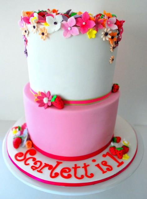 Scarlett Birthday Cake