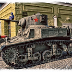"M3A1 (Stuart) Light Tank. 1941.  Легкий танк M3А1 ""Стюарт""."