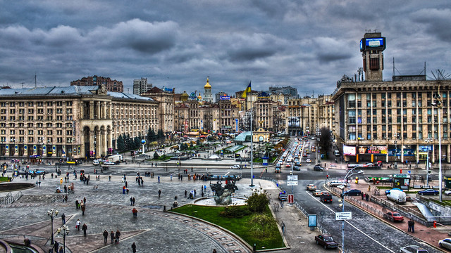 0312 - Ukraine, Kiev, Maidan Nezalezhnosti HDR