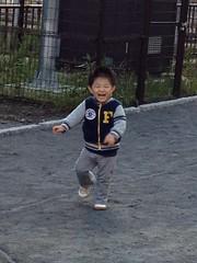 タコ公園にてはしる (2012/11/25)