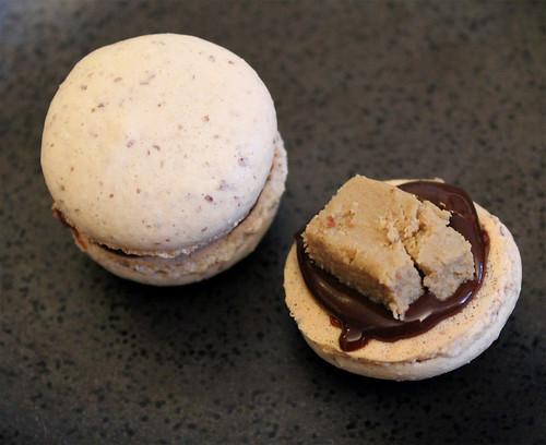 Chocolate Foie Gras Macarons