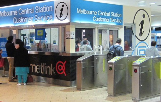 Myki barriers, Melbourne Central