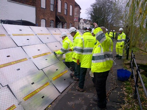 More temporary flood defences are going up