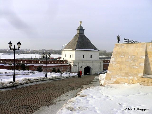 The Taynitskaya tower of the Kazan Kremlin
