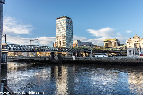 Dublin Spire, Liberty Hall And The Loopline Bridge (Dublin) by infomatique