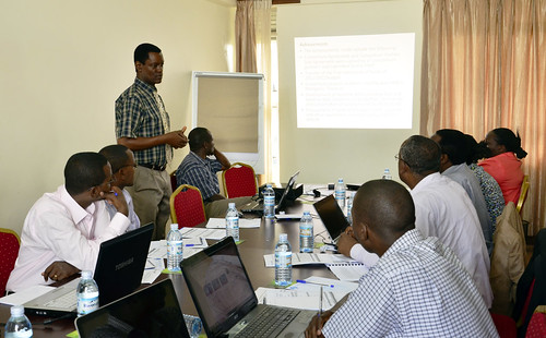 Jovin Mugula highlights the achievements of the consortium during day one of project 6 monitoring and review meeting