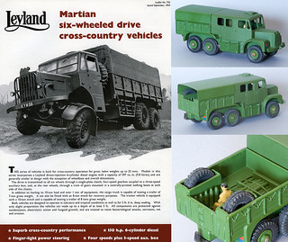 Leyland Martian leaflet and Dinky Toys Artillery Tractor version